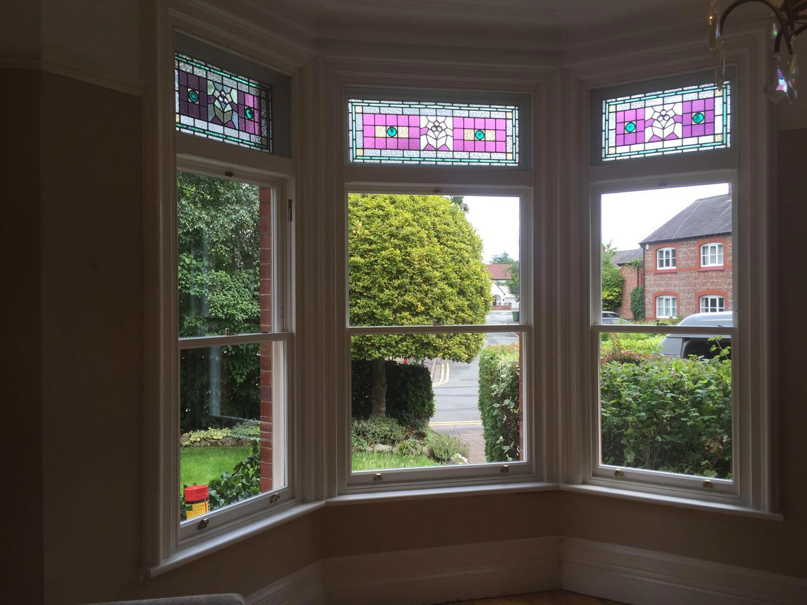 Stain Sash Window